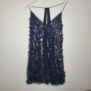 H&M Divided Black Halter Sequin Dress